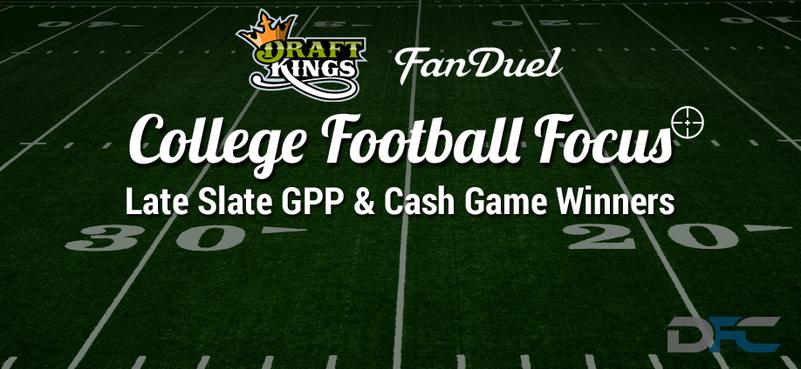 College Football Focus: DraftKings & FanDuel Late Slate Picks 11-7-15