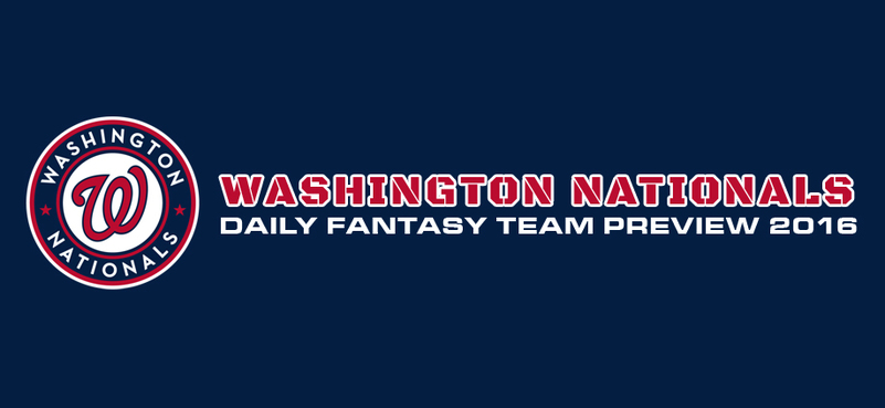 Washington Nationals - Daily Fantasy Team Preview 2016