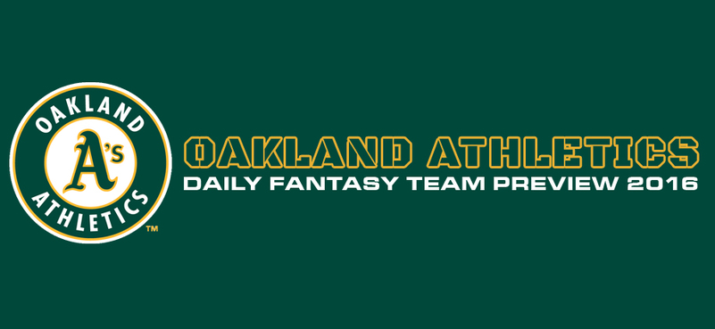 Oakland Athletics - Daily Fantasy Team Preview 2016