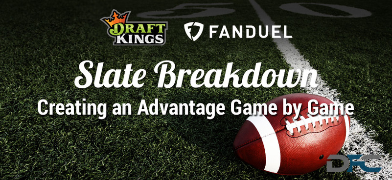 NFL Week 4 Slate Breakdown