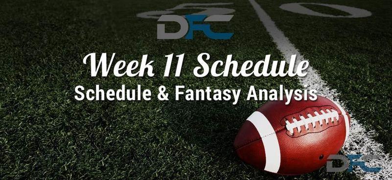 NFL Week 11 Schedule 2017