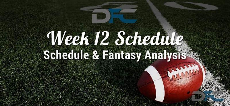 NFL Week 12 Schedule 2017