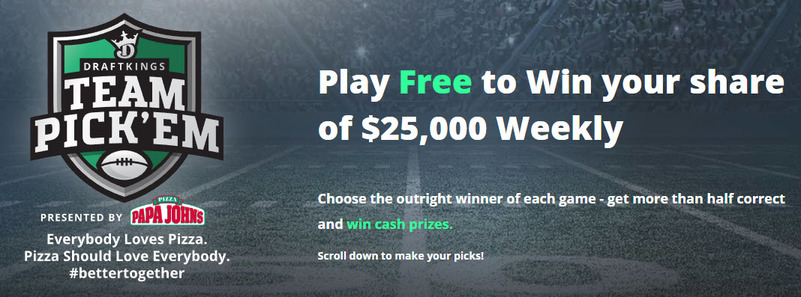 DraftKings NFL Team Pick'em Contest
