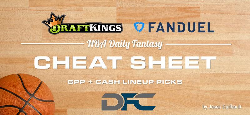 DraftKings & FanDuel NBA DFS Cheatsheet: 3-2-20