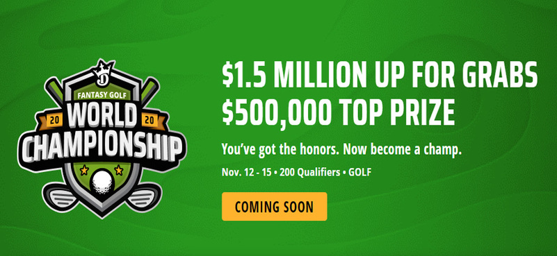 DraftKings Fantasy Golf World Championship 2020