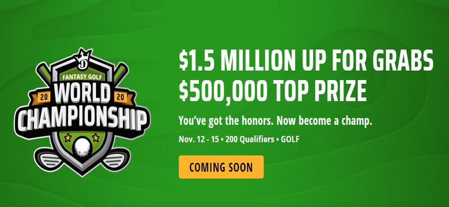 DraftKings Fantasy Golf World Championship 2020