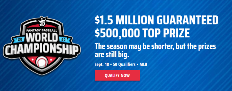 DraftKings Fantasy Baseball World Championship 2020
