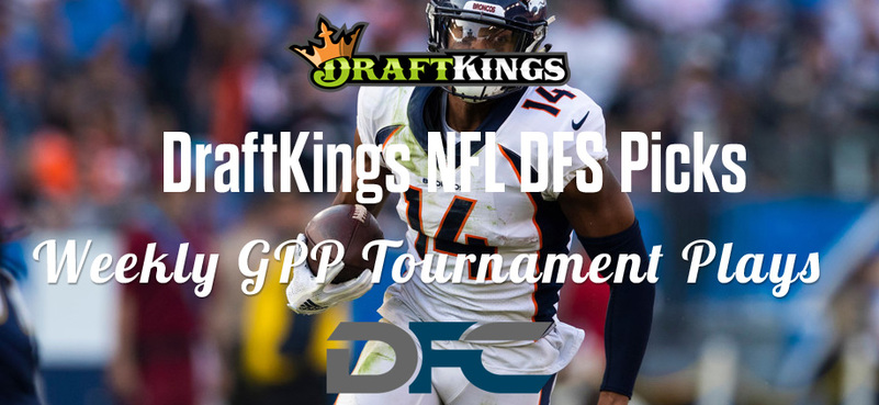 DraftKings Daily Fantasy GPP Tournament Picks - Week 2