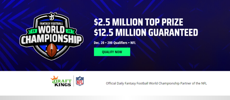 DraftKings Fantasy Football World Championship 2020: $12.5 Million in Guaranteed Prizes