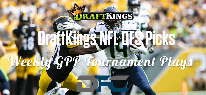 DraftKings Daily Fantasy GPP Tournament Picks - Week 8