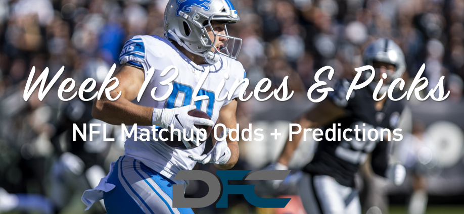 Week 13 NFL Lines & Odds: Matchup Predictions