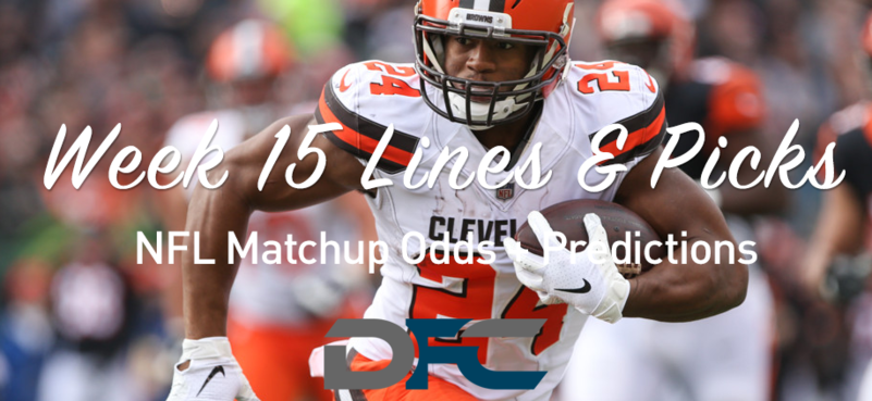 Week 15 NFL Lines & Odds: Matchup Predictions