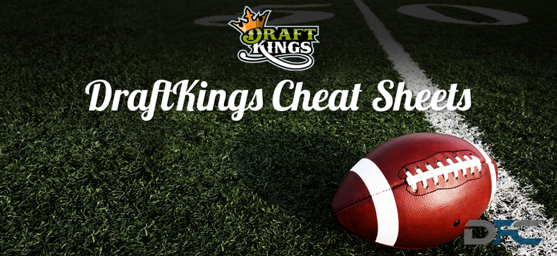 DraftKings NFL Cheat Sheets