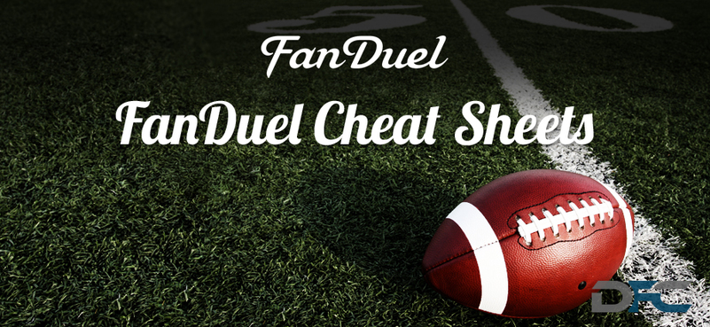 FanDuel NFL Cheat Sheets