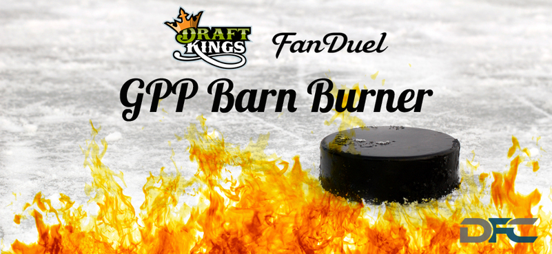 NHL GPP Barn Burner: 10-22-15