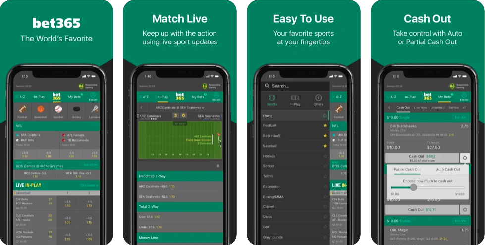 Bet365 Mobile app preview